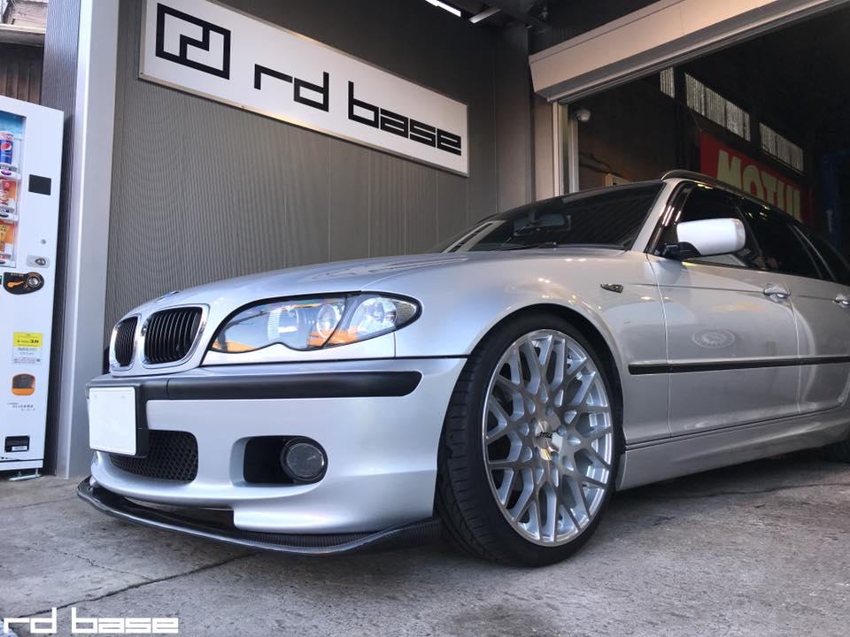 BMW E46にKWの車高調にTSW ヴェール
