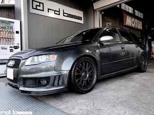 AUDI RS4 AVANT フロントスポイラー修理にタイヤ交換‼︎