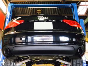 AUDI A5 クーペ KWコイルオーバースプリングキット装着に、 ワンオフマフラー製作を致しました!