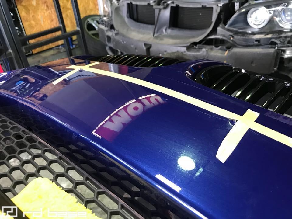 E92M3 ガルビノにブレーキダクト取付!