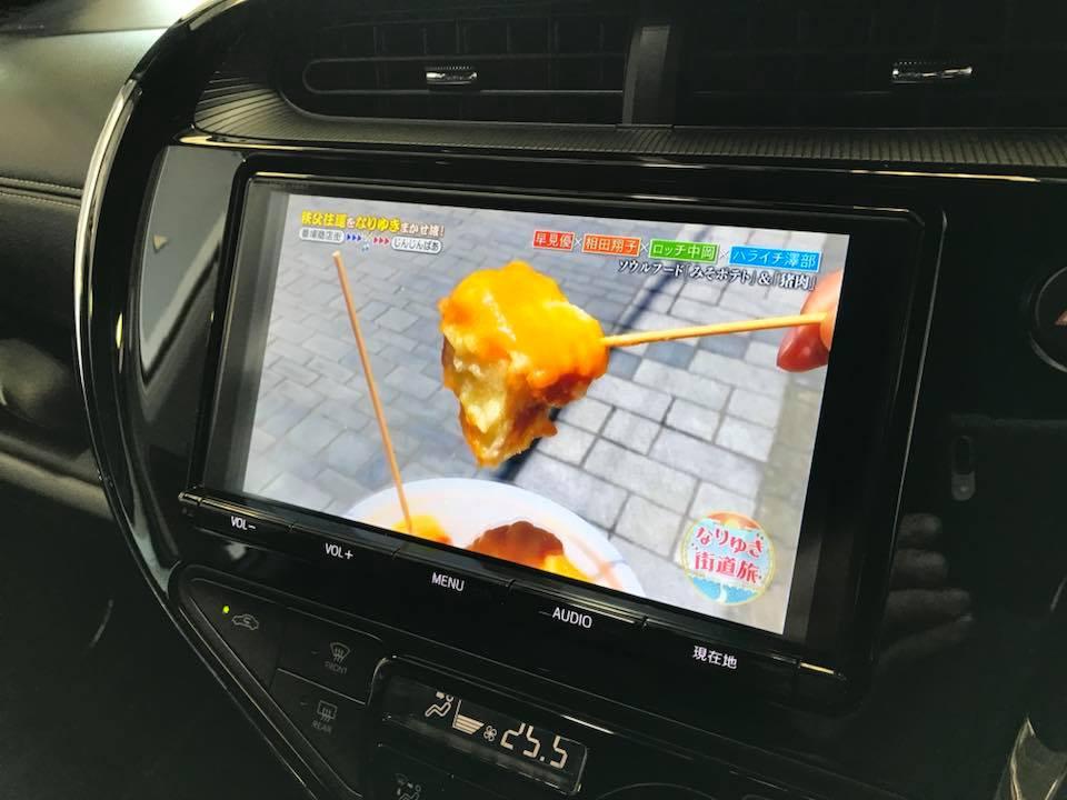 新車のアクアGRにレーダーとTVキャンセラーを装着‼︎