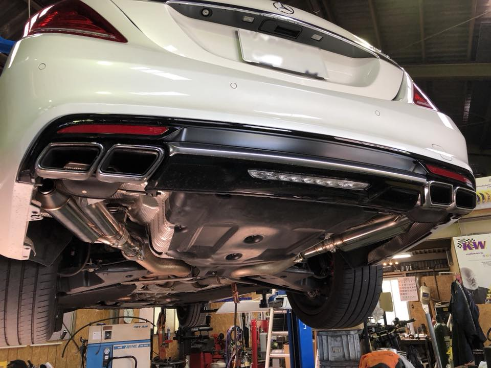 AMG S63のワンオフマフラーが完成!