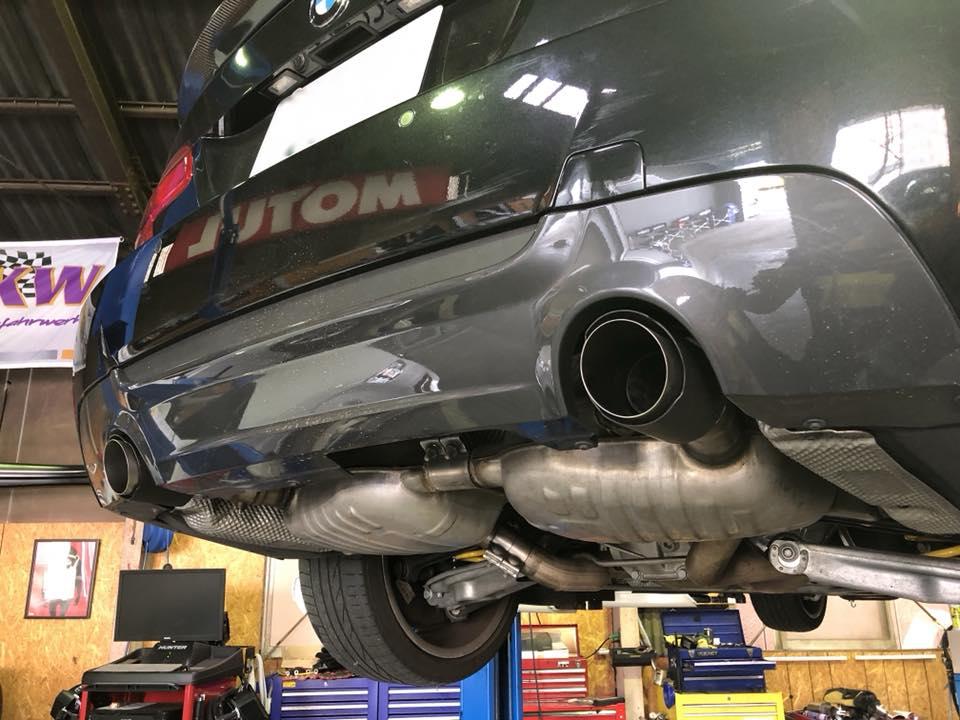 BMW E92 335i 純正マフラー内部ストレート加工‼︎