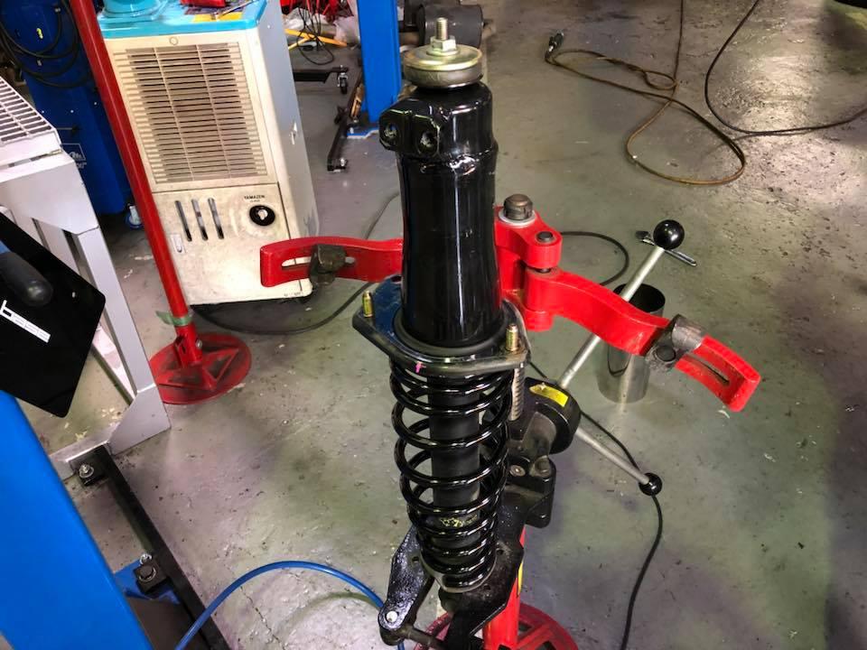 RX8 ラジエター交換にダウンサス取付‼︎