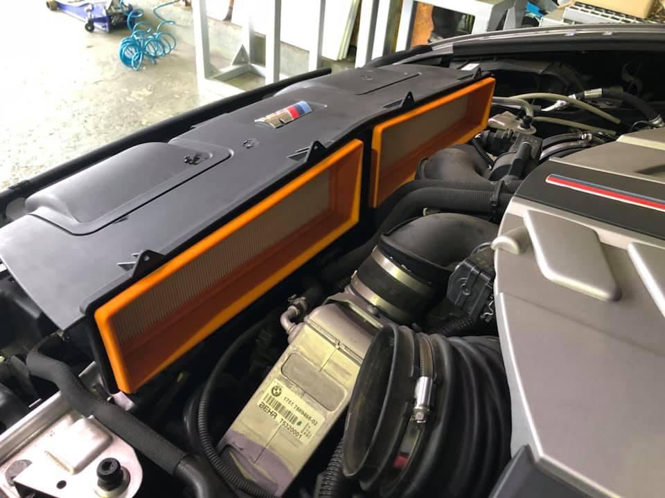 X6M 車検にユピテルのレーダー取付‼︎