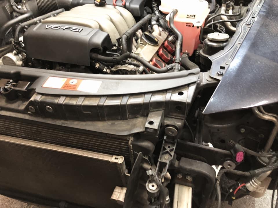 AUDI A6 水温上昇修理!