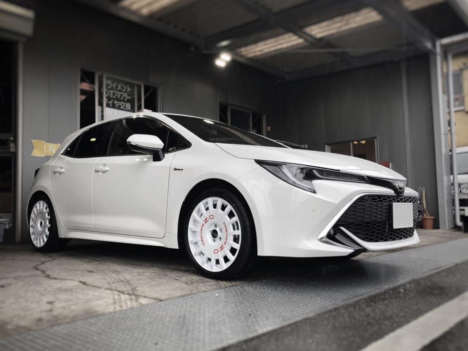 新車のTOYOTA カローラスポーツにOZ Rally Racingを装着!