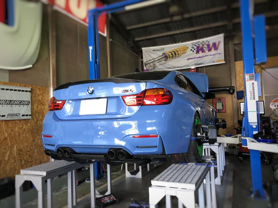 BMW M4 TE37SAGA 通しサイズ!