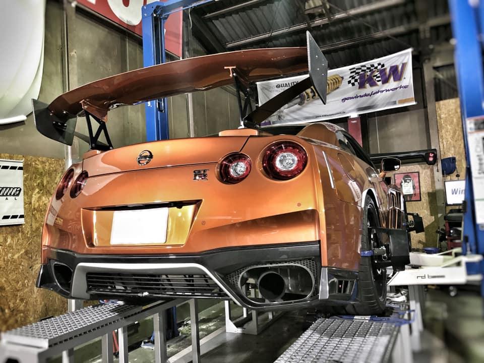 R35 GT-R アライメント調整!