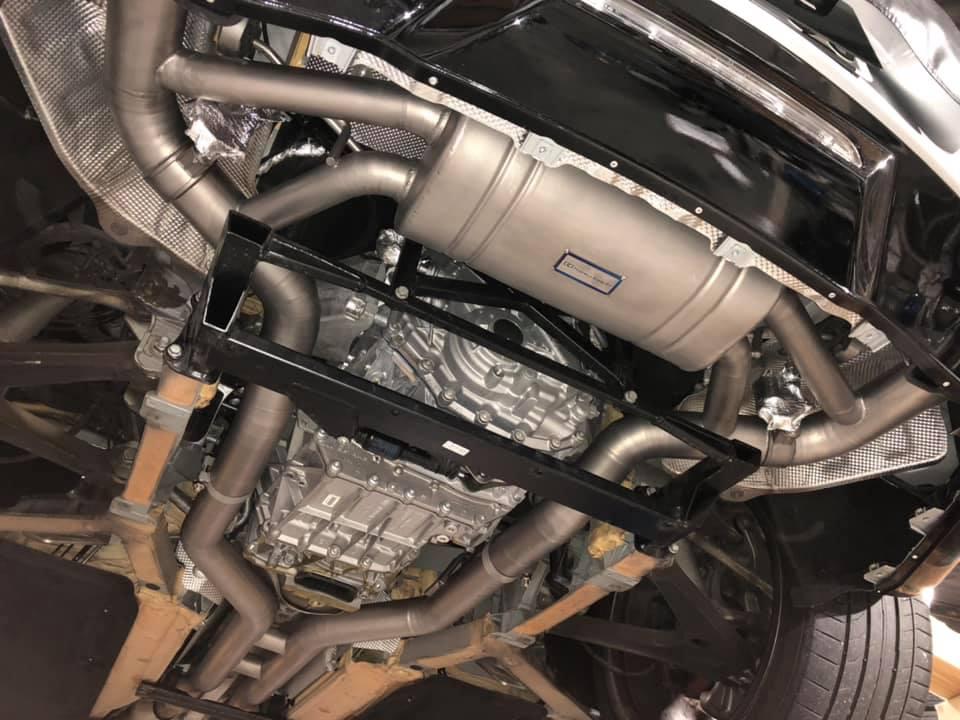 AMG GTS バルブ付きチタンマフラー装着!