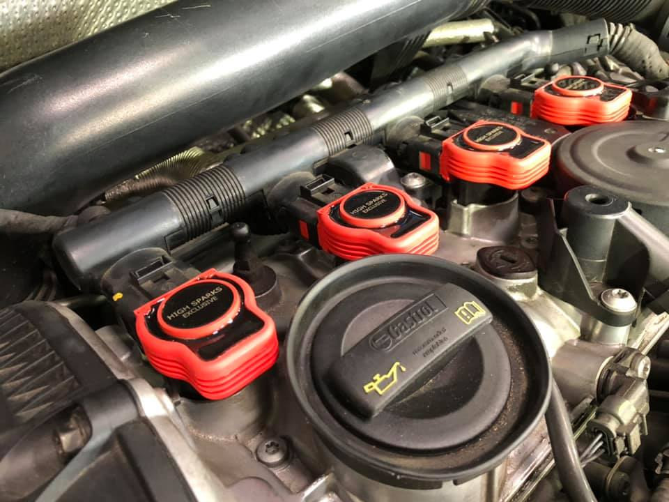 AUDI TTにPOLO GTIにHIGHSPARKイグニッションコイルEXモデル取付!