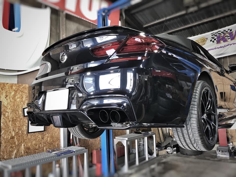 BMW F12 マフラー交換!