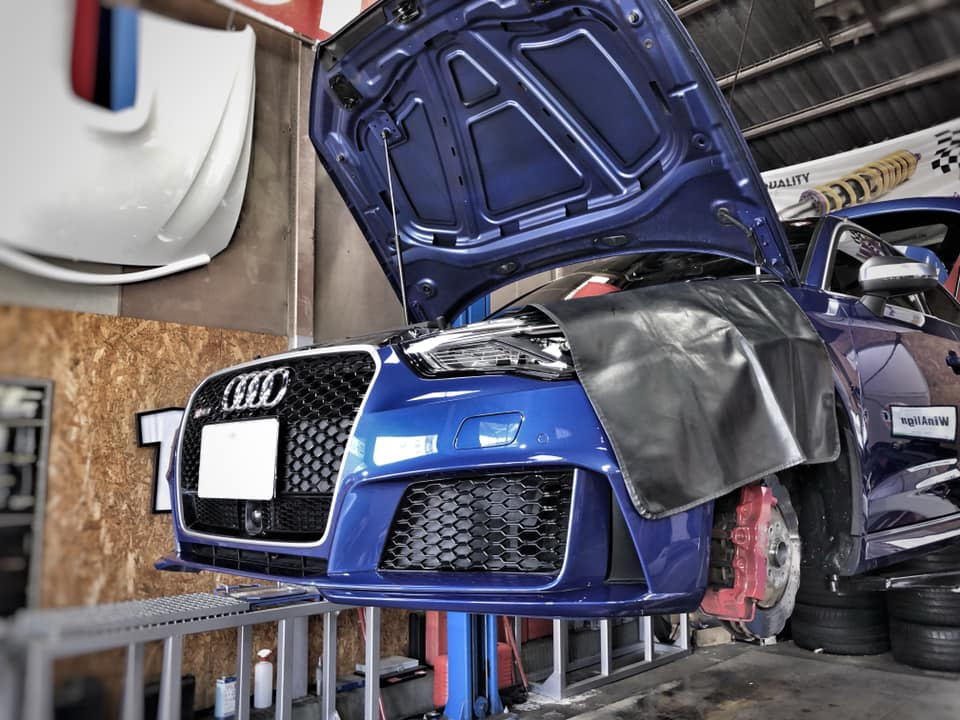 AUDI RS3にKW Ver3取付!