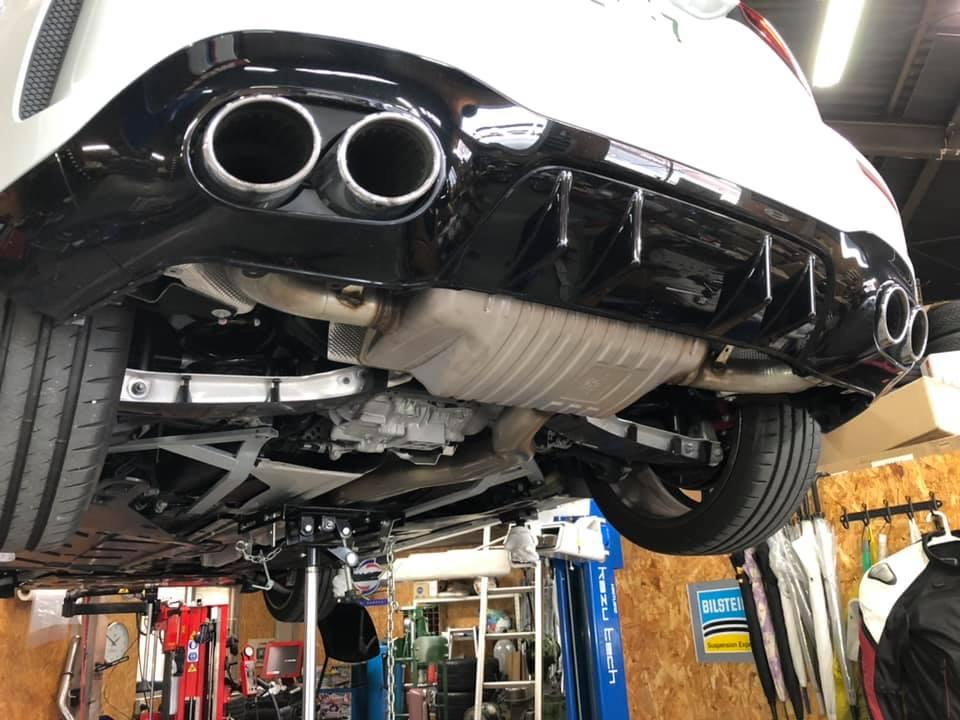 AMG A45S ノーマルマフラー加工!