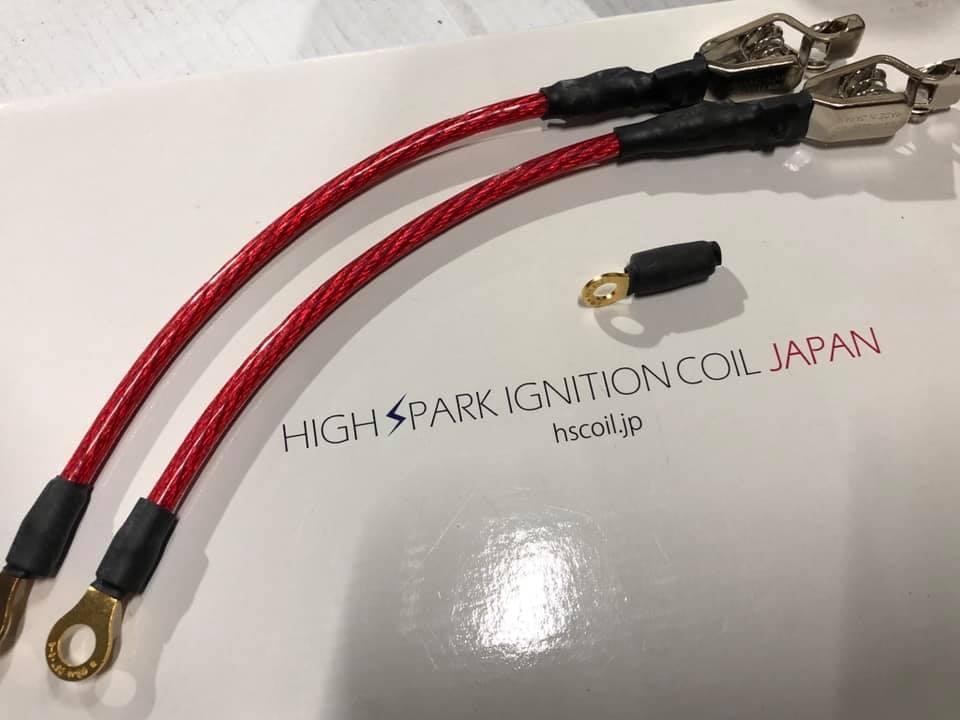 F80M3 HIGHSPARKポジティブターミナル ノイズリダクションマフラーケーブル取付!