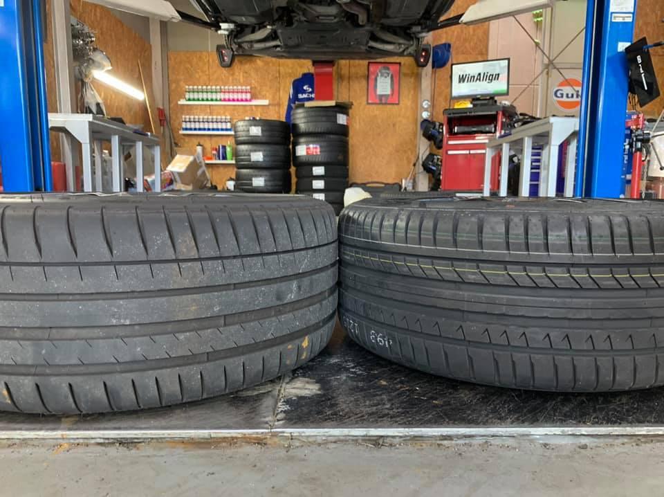 タイヤ交換に下準備!